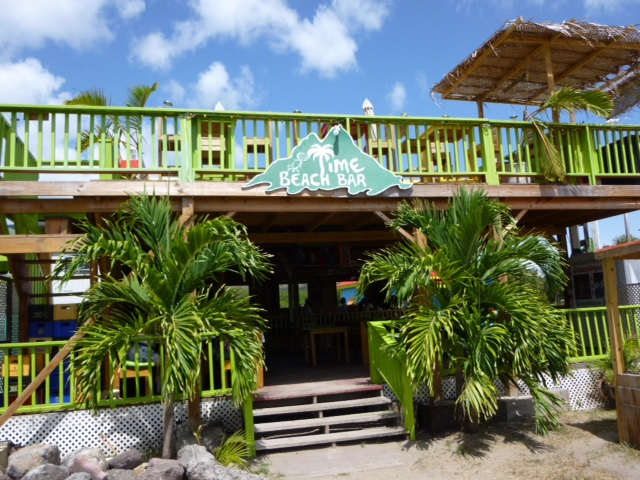 Lime Beach Bar & Grill, Pinney's Beach on the unspoiled island of Nevis