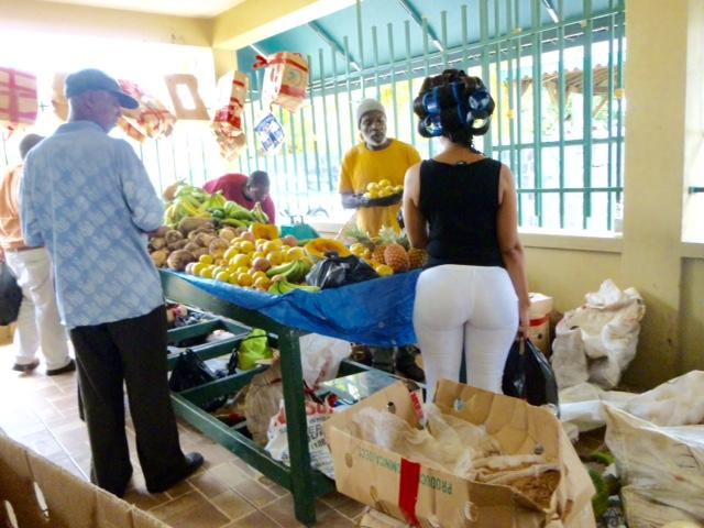 Market style at Charlestown Market, Nevis