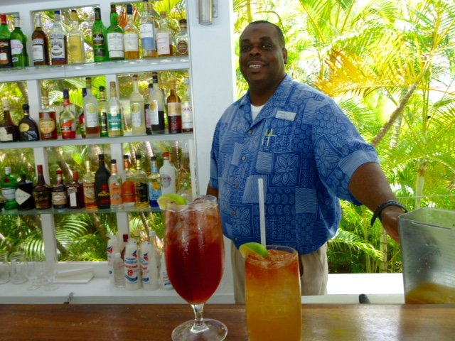 Montpelier Plantation & Beach head bartender Kaddy adds a smile to every cocktail