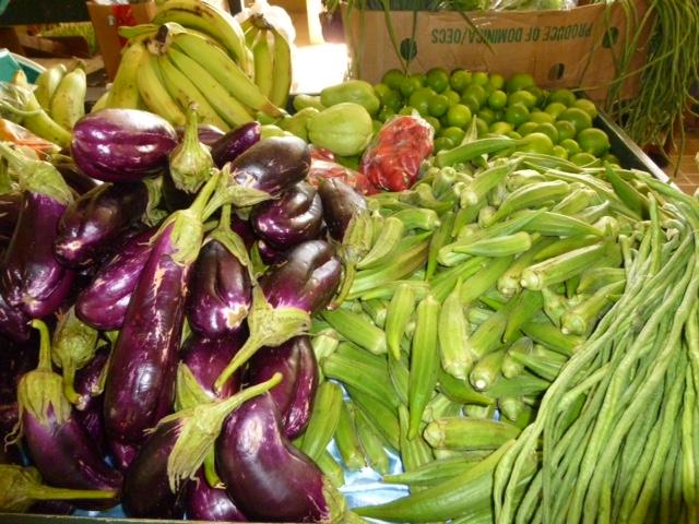 Market vegetables in Charlestown, Nevis