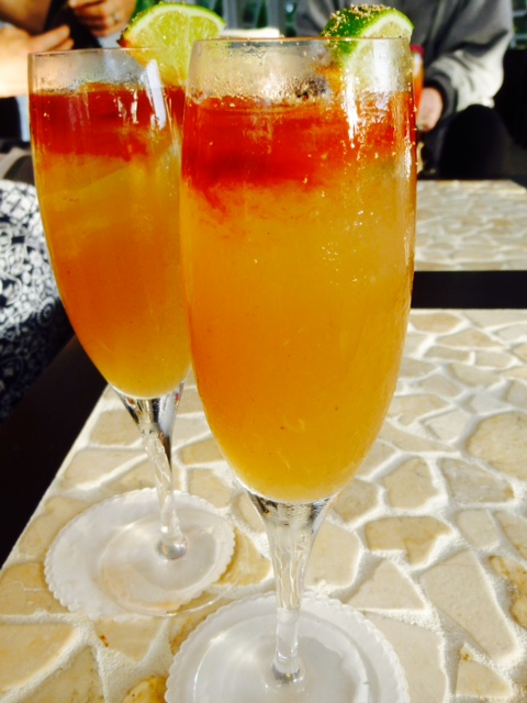 Rum punch served in elegant glasses at Montpelier Plantation & Beach